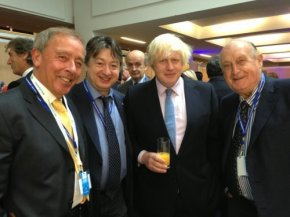 Alexander Temerko pictured with, then, Mayor of London Boris Johnson (now Foreign Secretary)