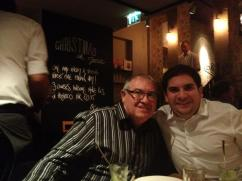 My dad and me at a meal for one of my birthdays