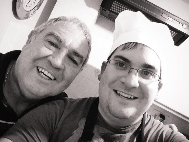 my dad and I cooked Christmas dinner together