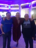 My dad, Adam Hills, and me.