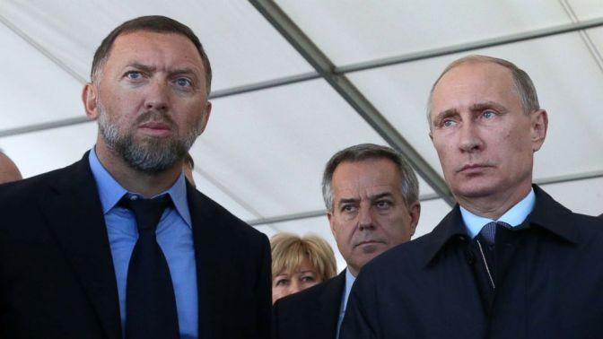 Oleg Deripaska and Vladimir Putin